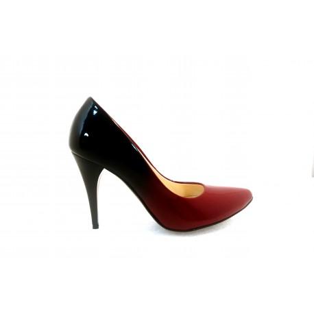 Black \u0026 Burgundy High Heels - Adiamo